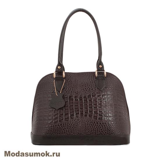 c446af57e158 Женская сумка из натуральной кожи L-Craft L 7 коричневый кайман ...