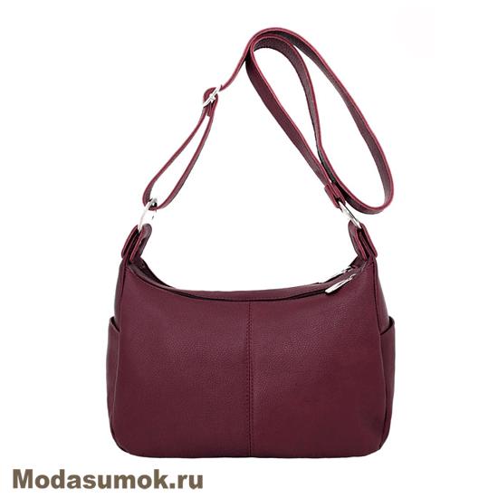 ada79304bfd6 Женская сумка из натуральной кожи Protege Ц-266 бордовая купить в ...